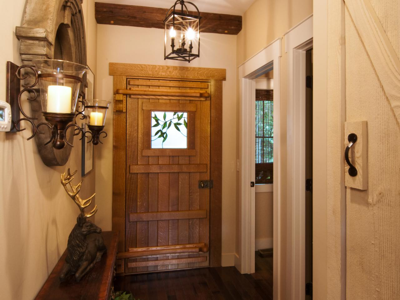 Rustic Entry Foyer Lighting : Foyer from cabin diy network