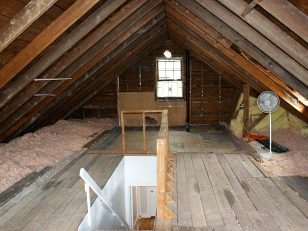 Medium Attic Living Room Design Attics DIY