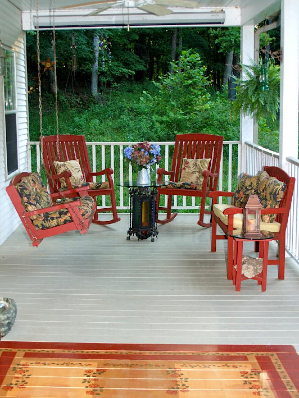Front porch ideas from rate my space diy for Front porch patio ideas