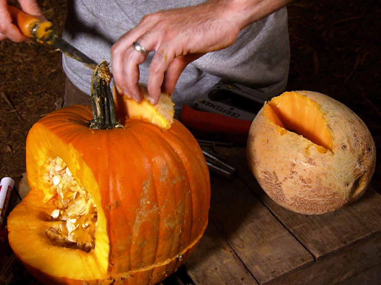Halloween pumpkin carving frankenstein jack o lantern