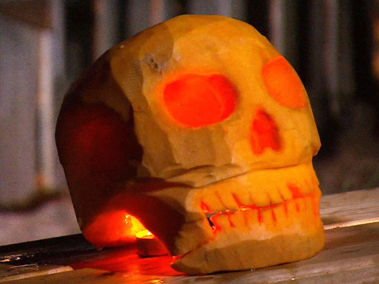 halloween pumpkin carving: skull jack o' lantern | how-tos | diy