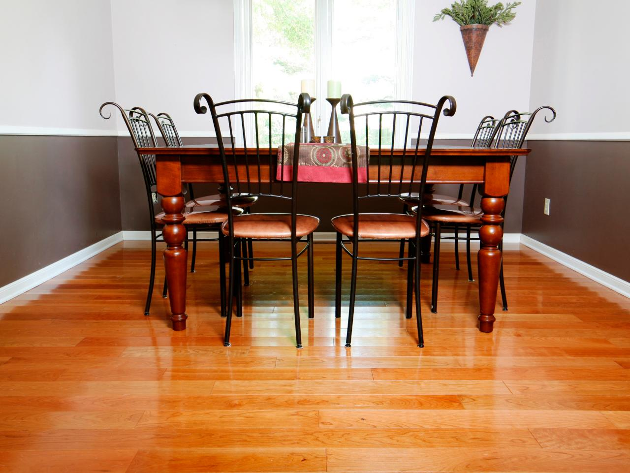 How to install prefinished solid hardwood flooring how for Dining room flooring