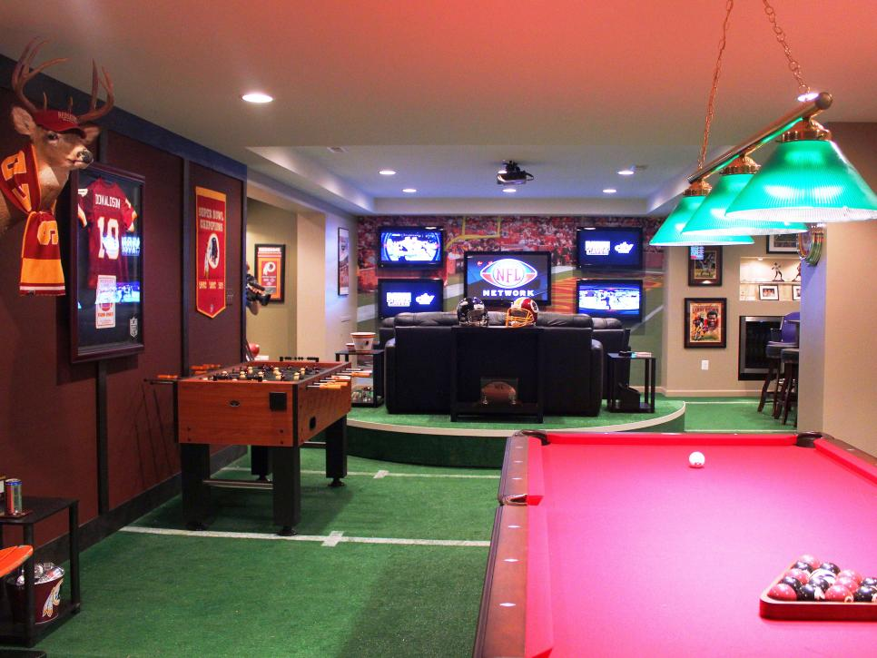 Nfl Man Cave Ideas : Man caves nfl fan cave diy