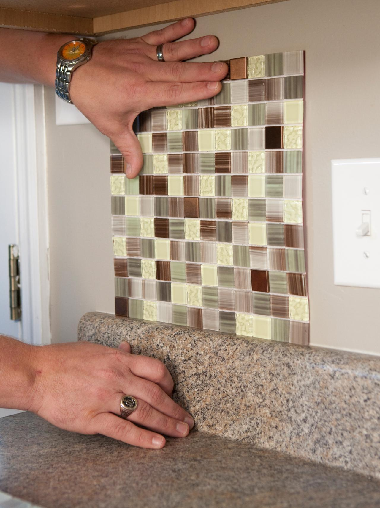 How to install a backsplash how tos diy How to put tile on wall in the kitchen