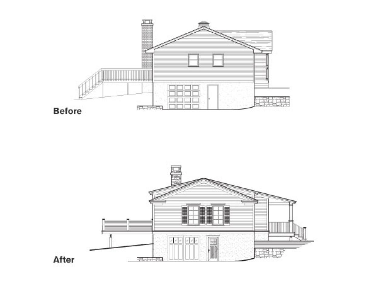 Elevation Plan End View : Diy network cabin floor plans