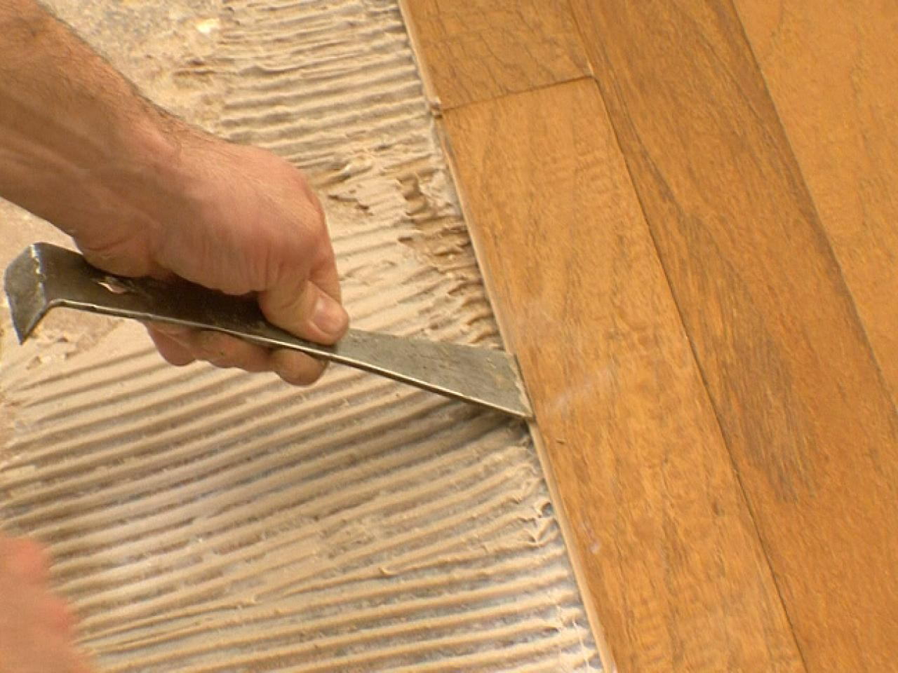 engineered wood tapping - How To Install Engineered Wood Over Concrete How-tos DIY