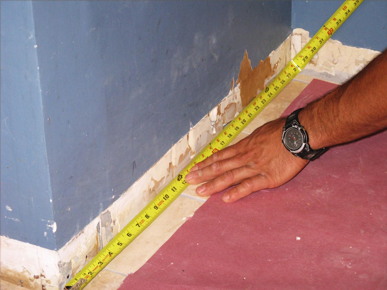 How to cut base molding in place - How To Cope And Install Baseboard