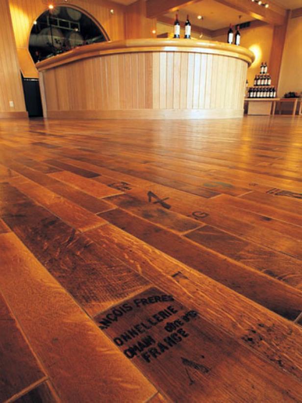 Reclaimed Wine Barrel Flooring