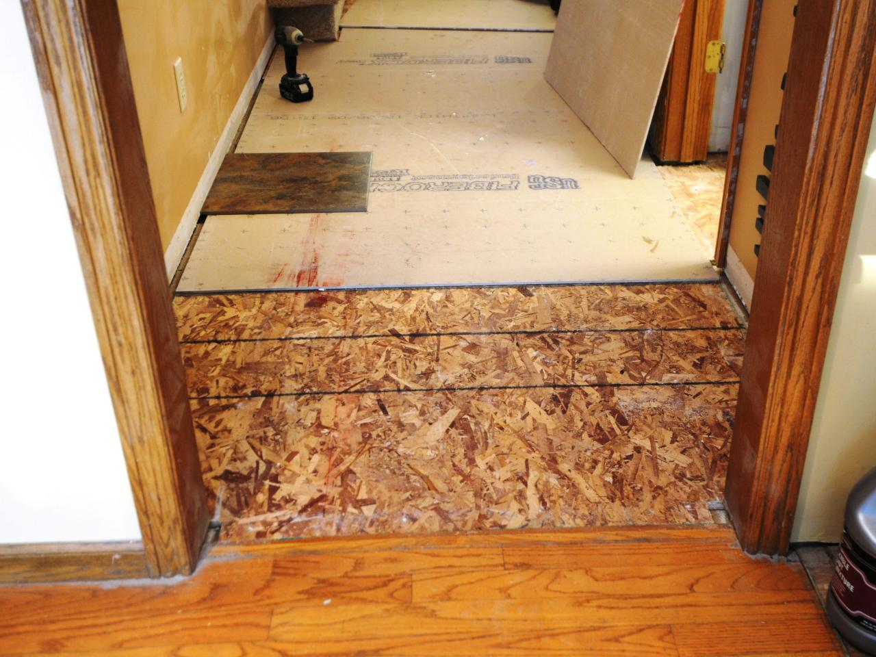 Laying a new tile floor how tos diy ultimate how to originaltile floor lay cement boards4x3 doublecrazyfo Choice Image