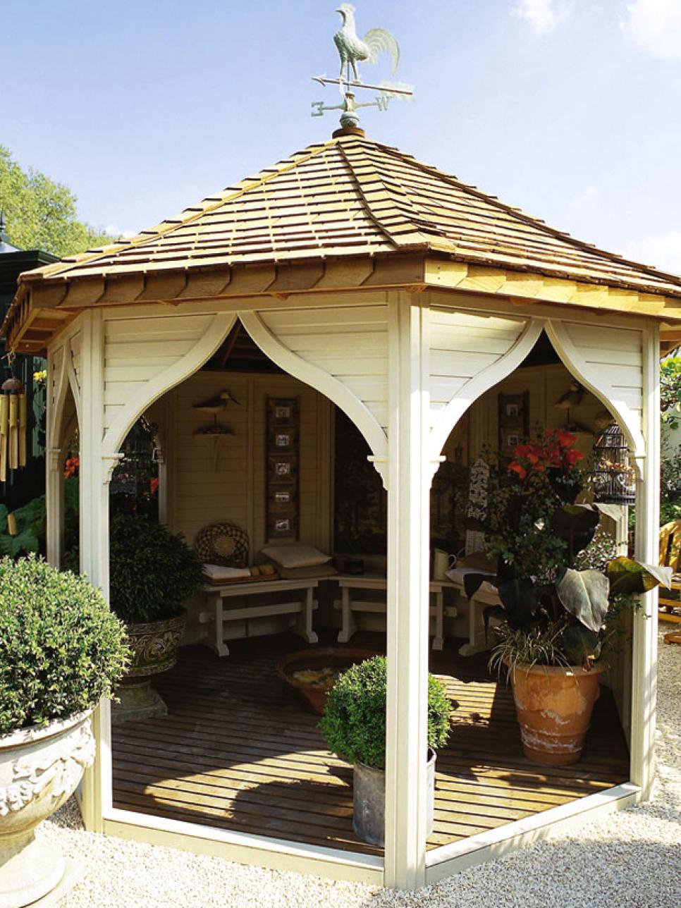 Pergola and gazebo design trends diy for Average cost to build a pavilion