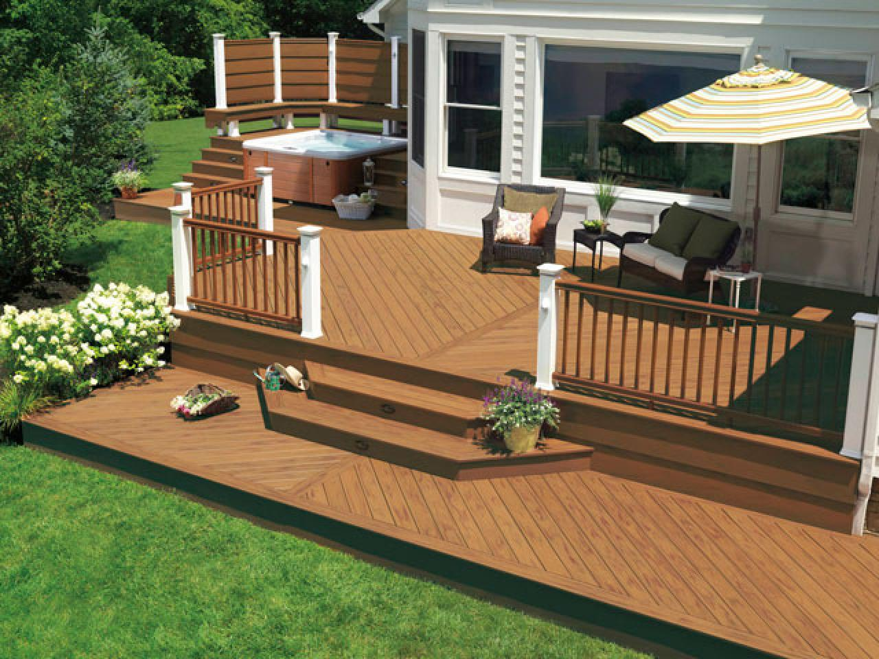 How to determine your deck style hgtv for Patio porch designs