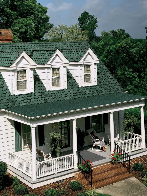 Green Shingled Cottage Roof
