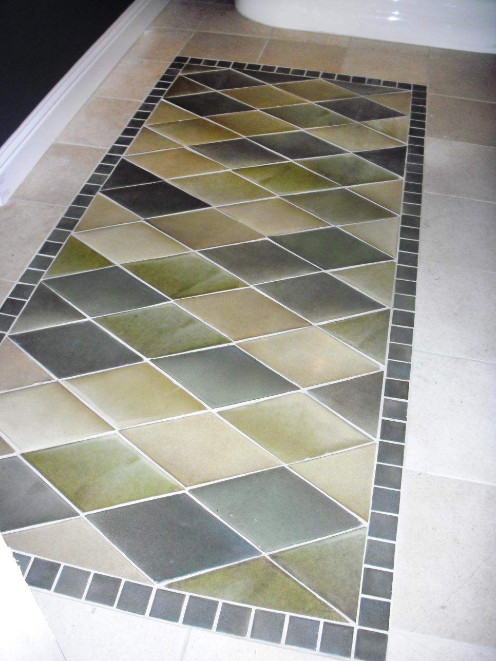 Beautiful bathroom floors from diy network diy for Beautiful floor designs
