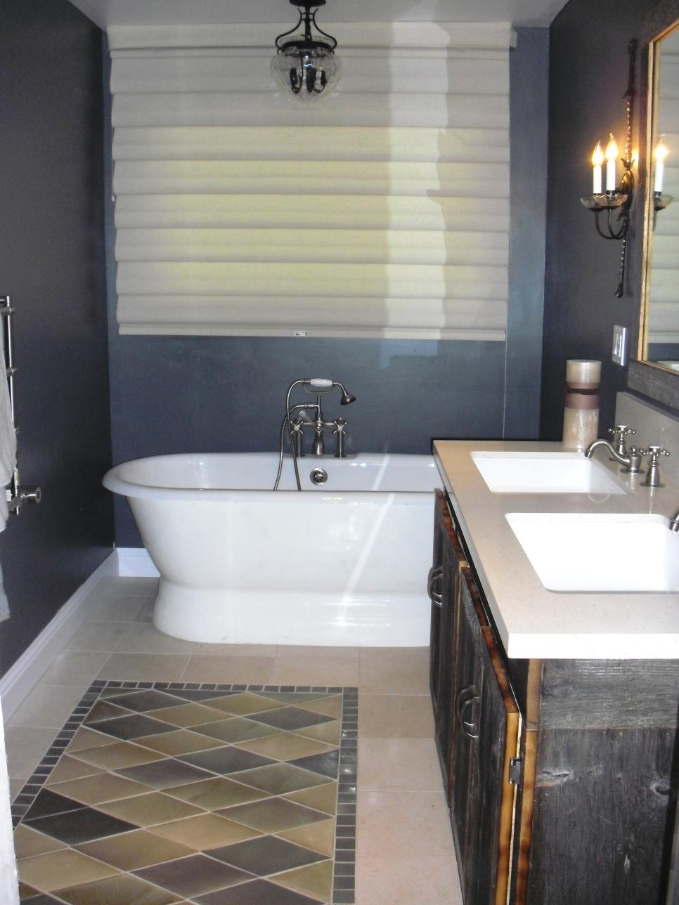 beautiful bathroom floors from diy network diy. Black Bedroom Furniture Sets. Home Design Ideas