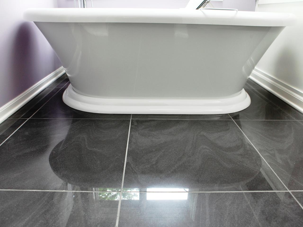 Featured in bath crashers episode blinged out glamour for Bathroom flooring ideas small bathroom