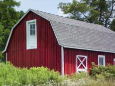 The property's original two-story barn is chock-a-block with vintage farm equipment and knickknacks left behind by previous property owners. The structure awaits renovation by the winner of Blog Cabin 2010.