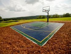 An outdoor recreational feature selected by online voters, the basketball court offers endless hours of play for family and friends.