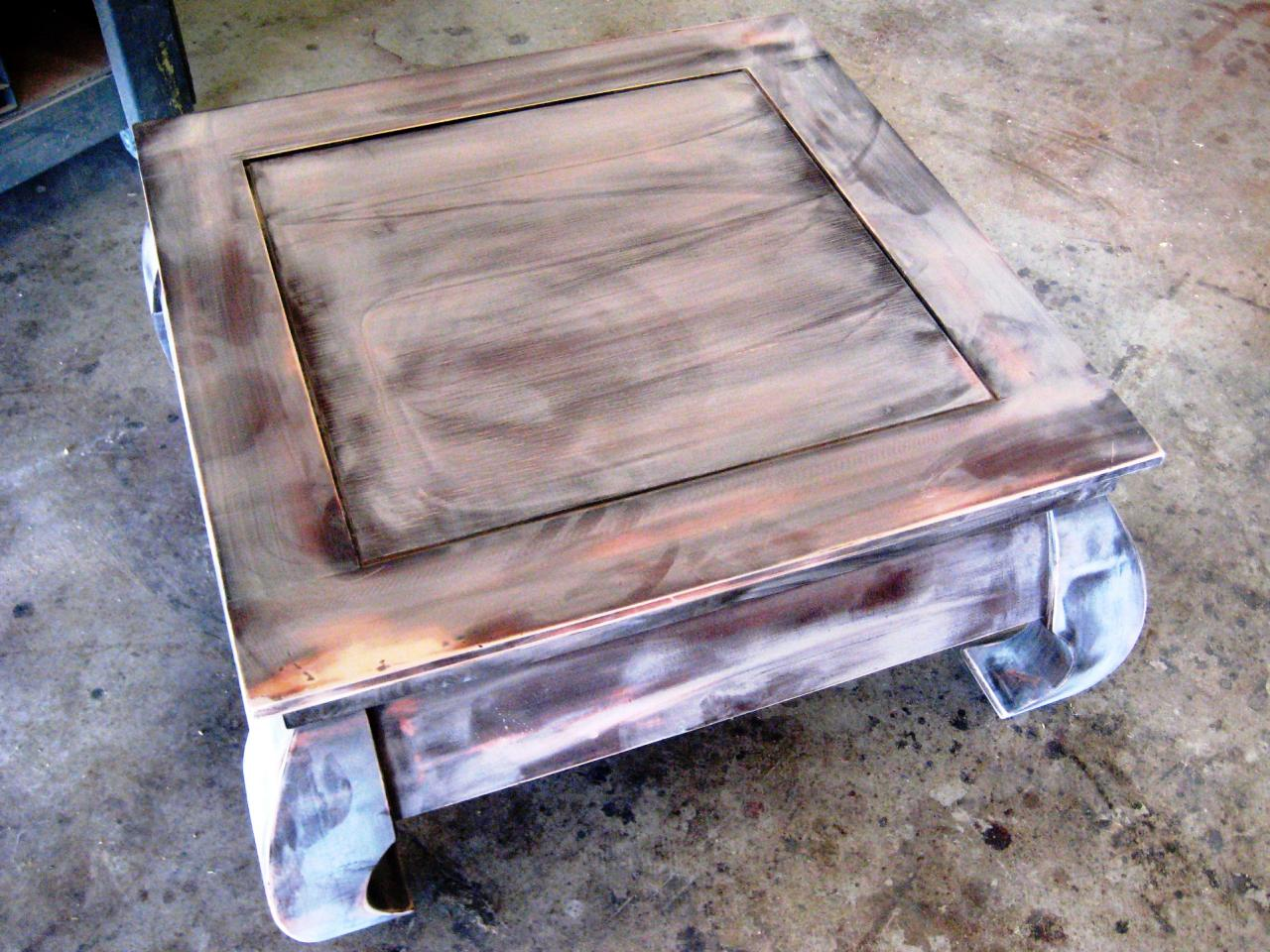 How to paint and stencil an old wood table how tos diy lightly sand table geotapseo Choice Image