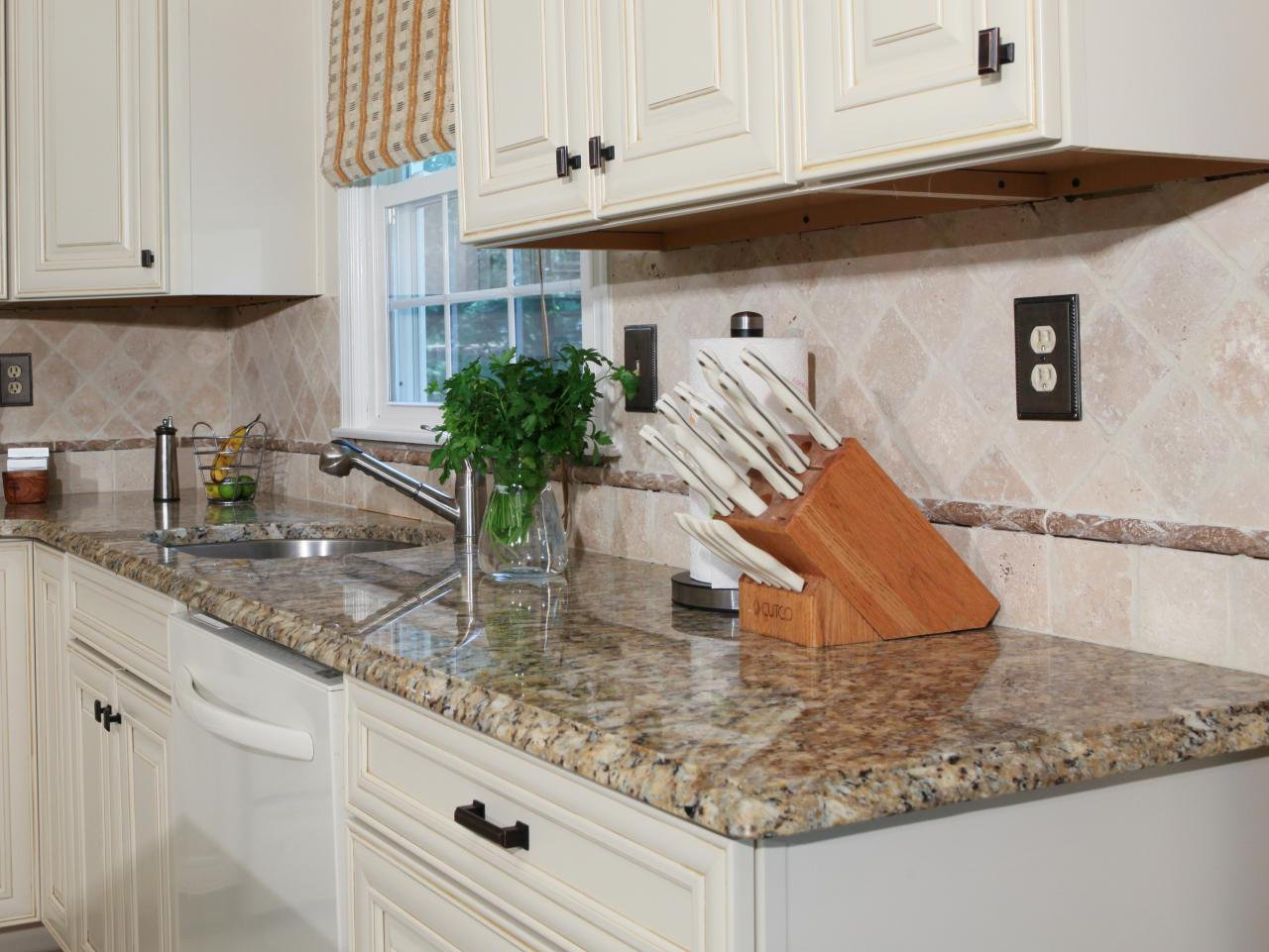 How to install a granite kitchen countertop how tos diy for Kitchen countertops