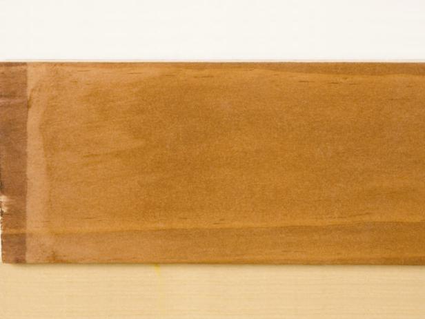 Pine wood sample