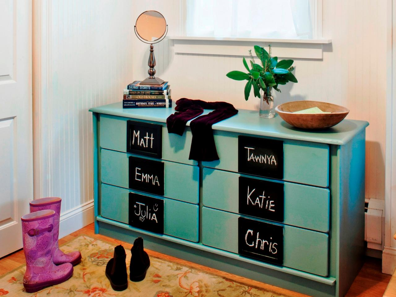 How To Turn An Old Dresser Into Mudroom Storage