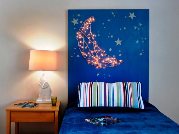 15 Easy DIY Headboards: Starry Night