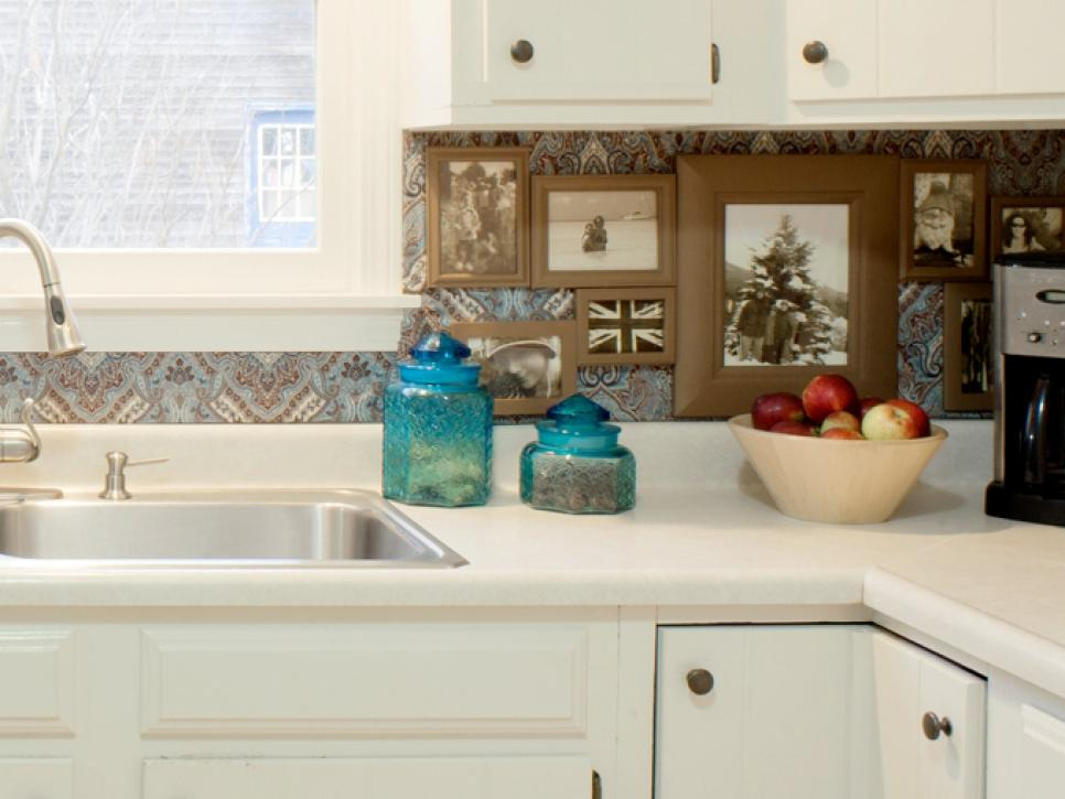 7 budget backsplash projects diy Inexpensive kitchen backsplash