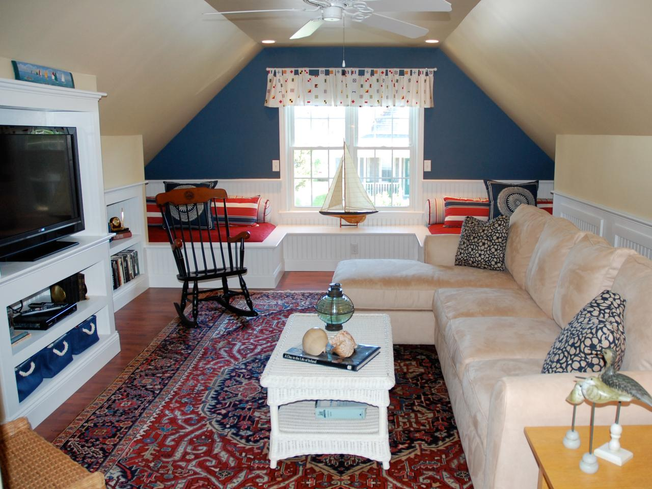 Medium Attic Living Room Design 16 Amazing Attic Remodels Storage Ideas How Tos For Closets