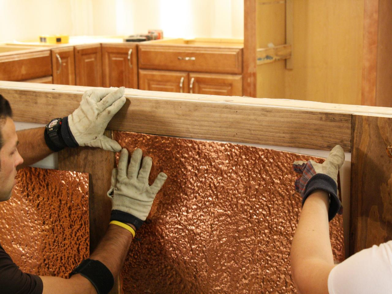 how to install copper wainscoting how tos diy