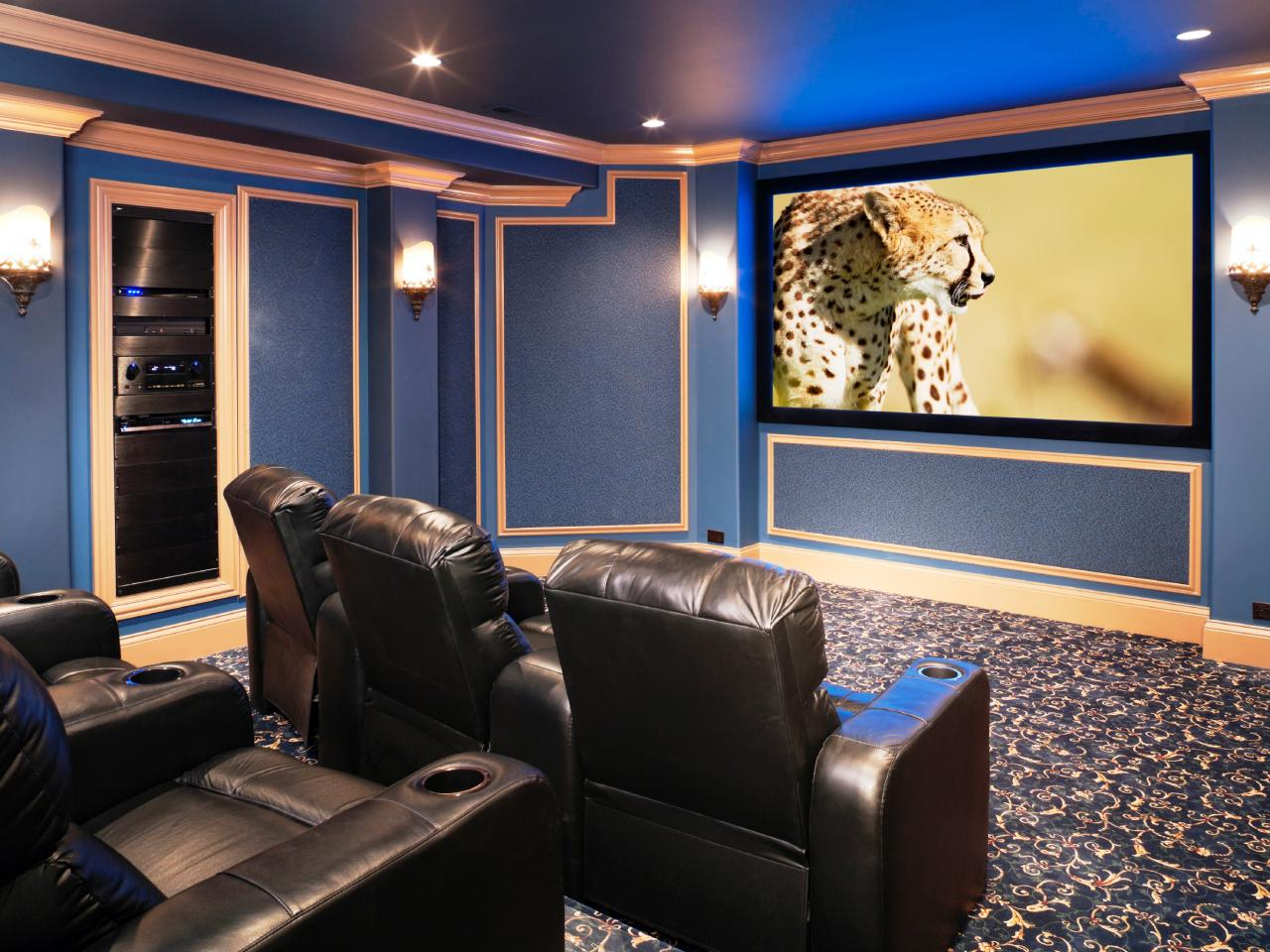 Maximum value technology projects theater hgtv Home theater colors