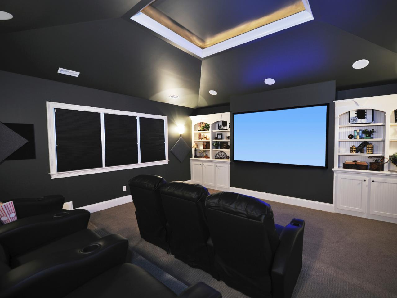 Tips for designing the ultimate media room diy network Home theater colors