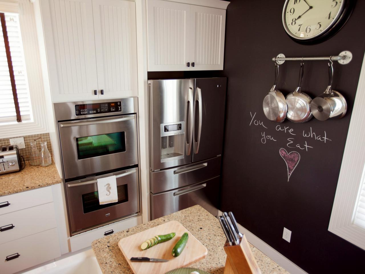 How to paint a kitchen chalkboard wall how tos diy Kitchen wall paint ideas