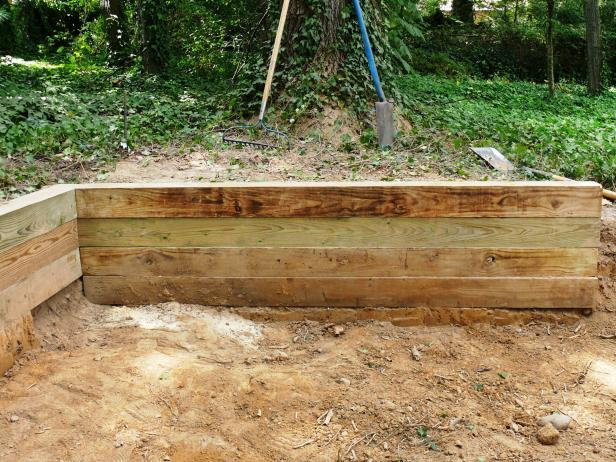 Building A Timber Retaining Wall | How-Tos | Diy