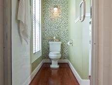Mosaic Tile Backsplash In Contemporary Bathroom