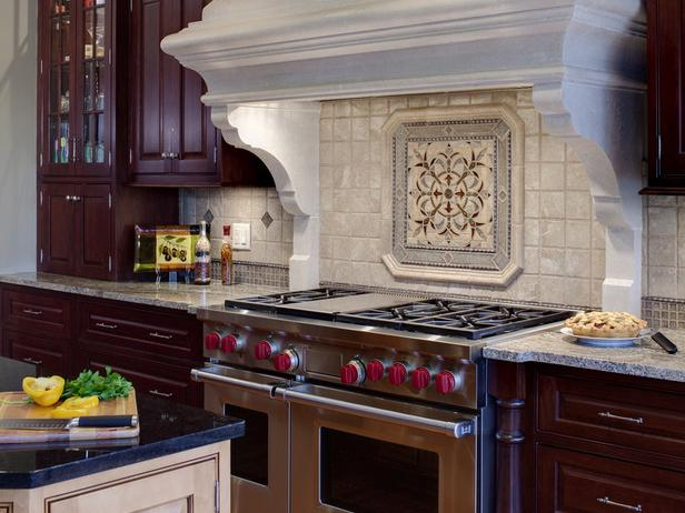 Kitchen with Decorative Backsplash