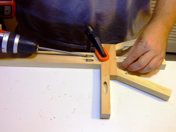 "Attach hands to arms using glue and 1-1/4"" pocket-hole screws."