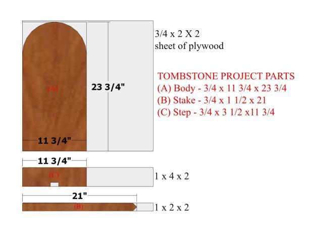 Tombstone Project Cut LIst