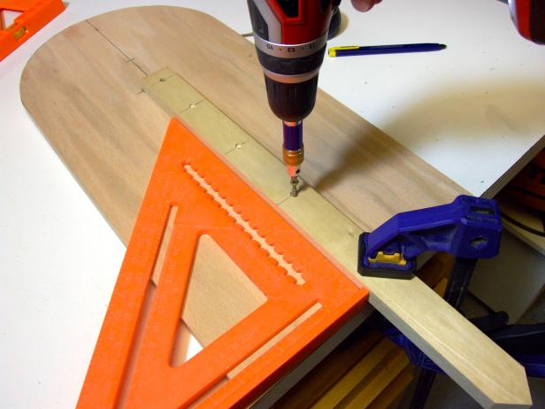 "Attach the step using glue and 1-1/4"" deck screw."