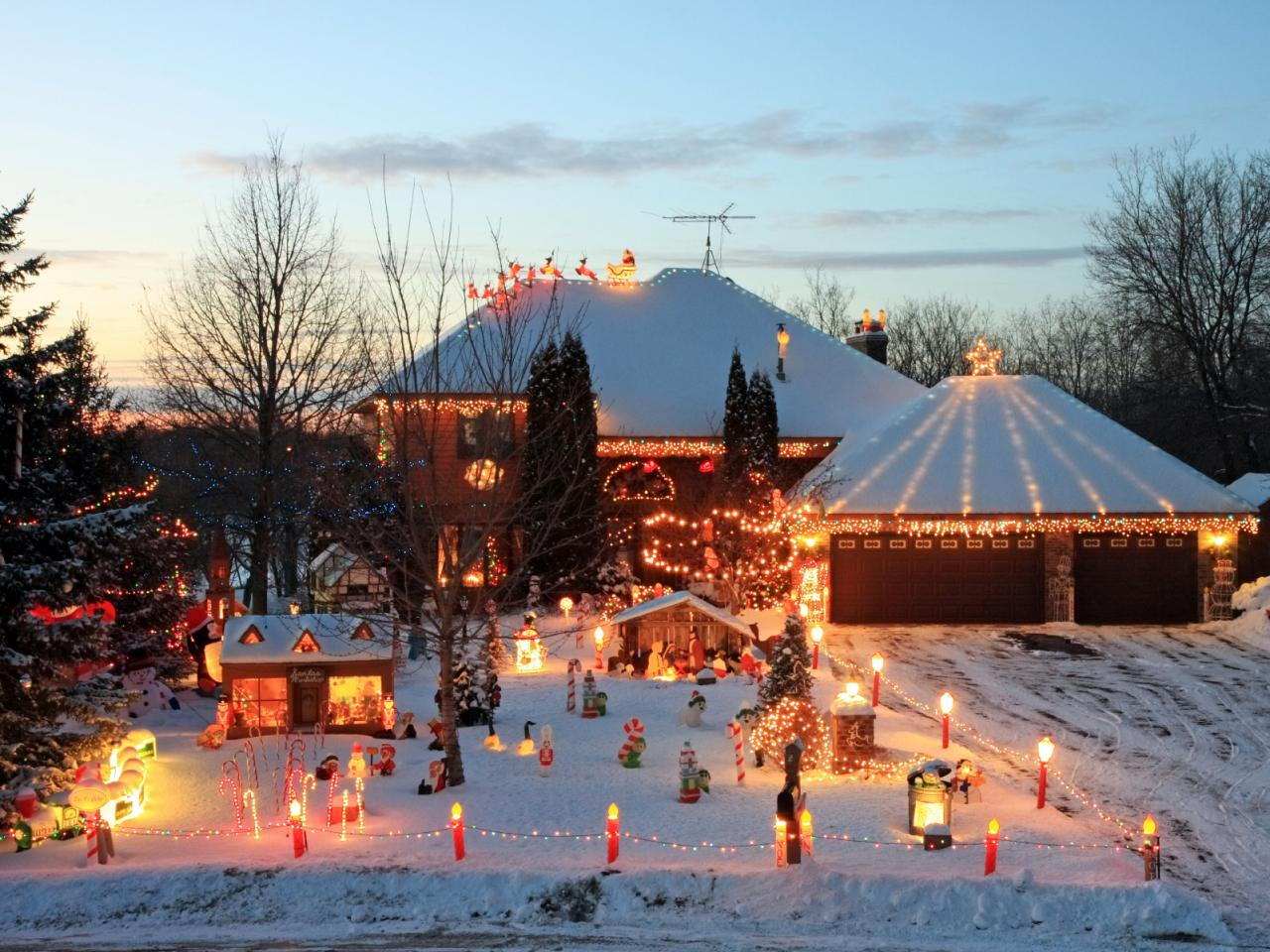 the north pole - Exterior Christmas Lights Ideas