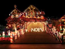 Extravagant Christmas Light Display