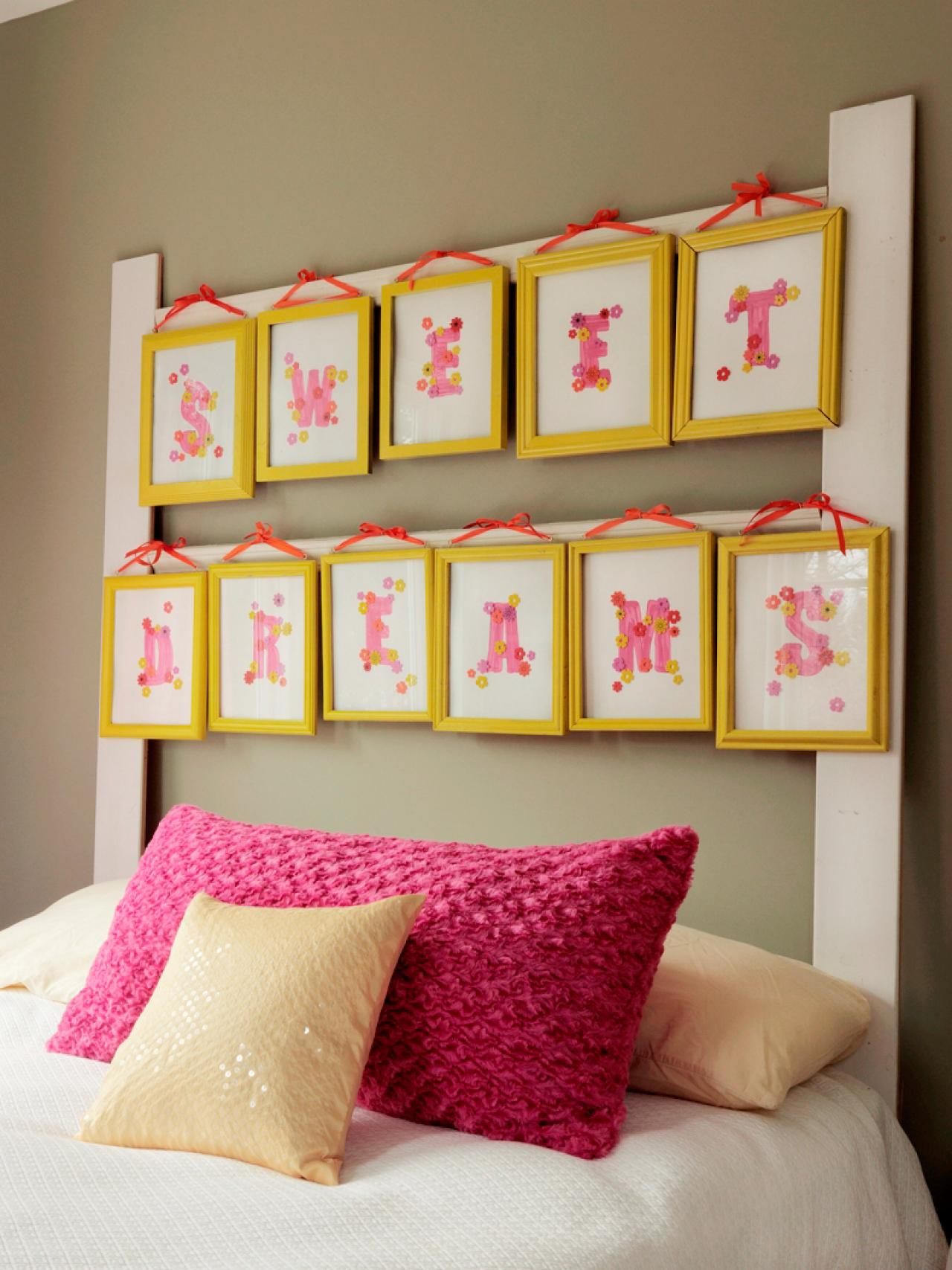 How to Make a Headboard With Picture Frames | how-tos | DIY