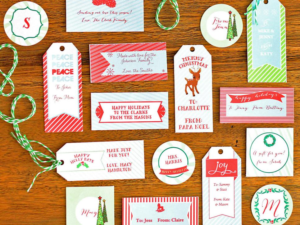 How to make customizable holiday gift tags diy winter wonderland negle Gallery