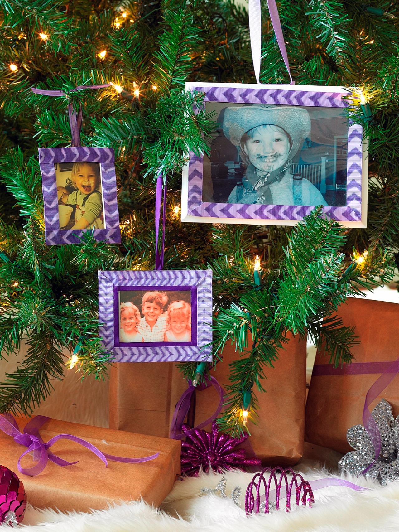 Christmas tree picture frame ornaments - Far Out Frames