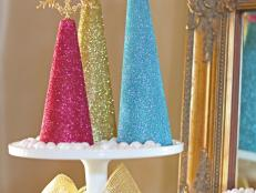 Glitter Christmas Tree Centerpiece