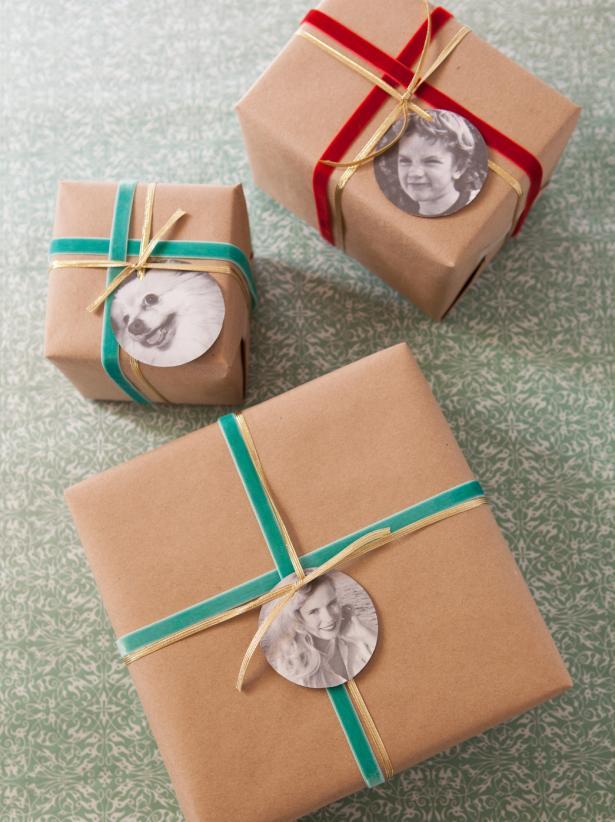 Christmas Gift Wrap Photo Tags