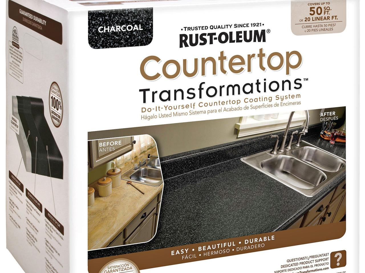 how to paint laminate kitchen countertops | diy