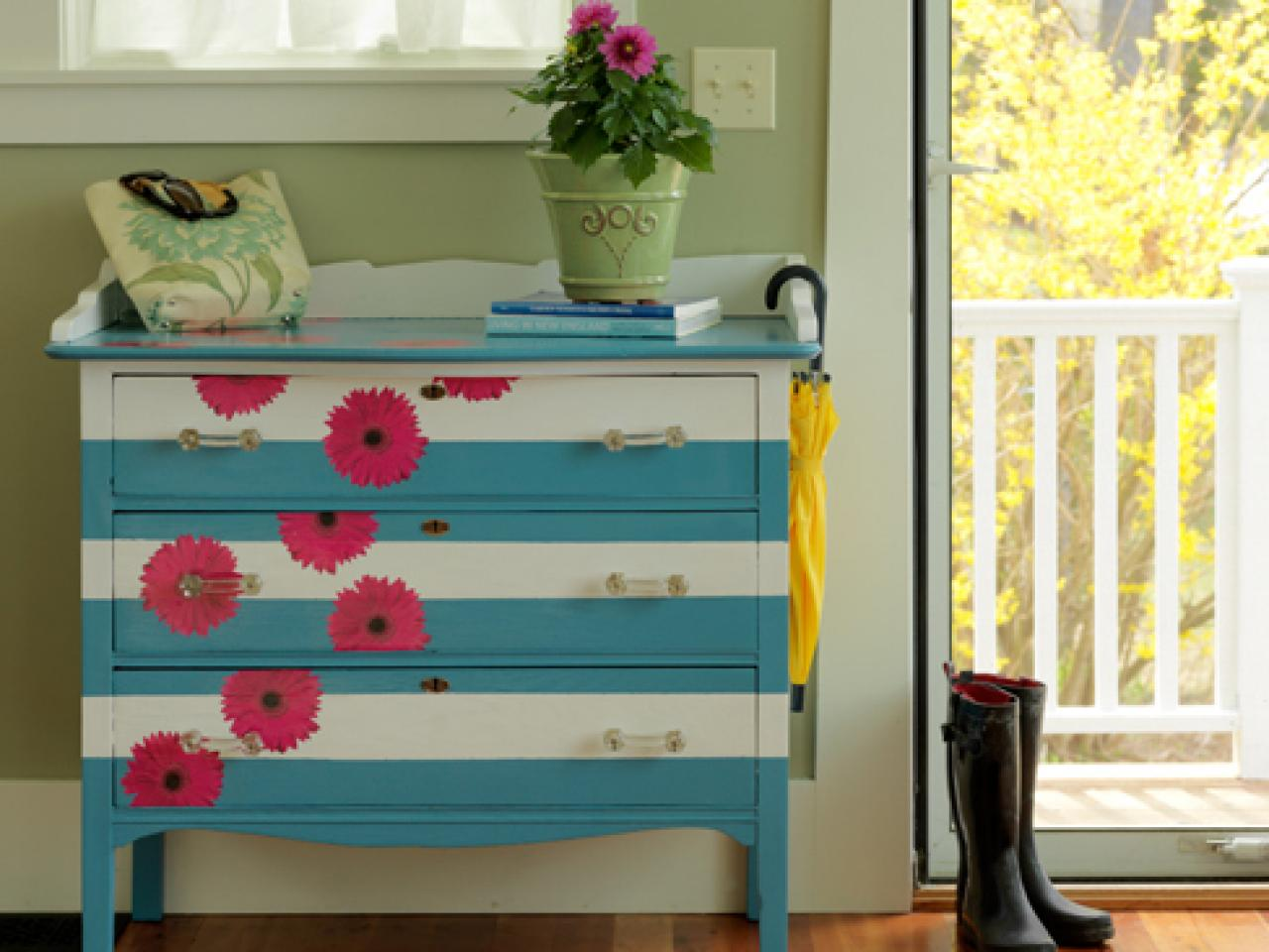 How to make a striped and floral dresser how tos diy Images of painted furniture