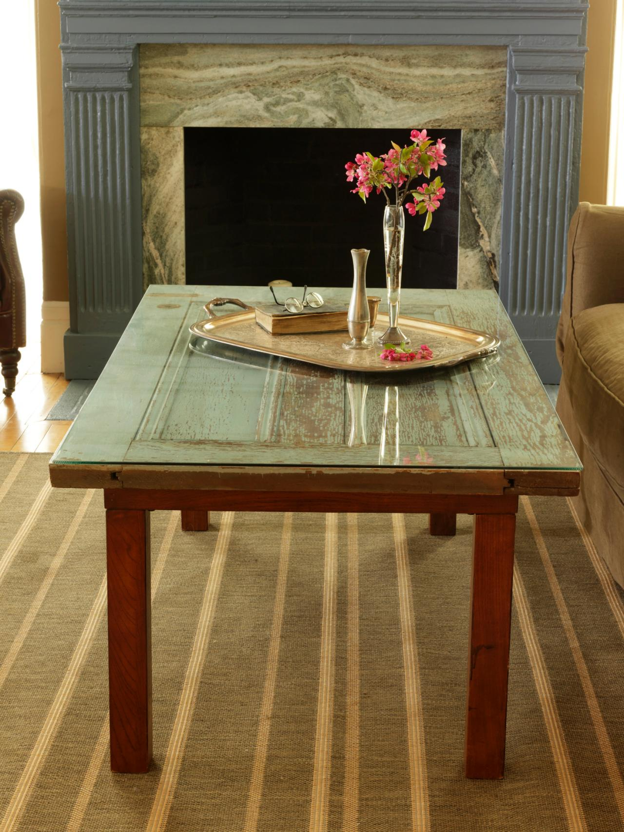 How to Repurpose a Door Into a Coffee Table how tos