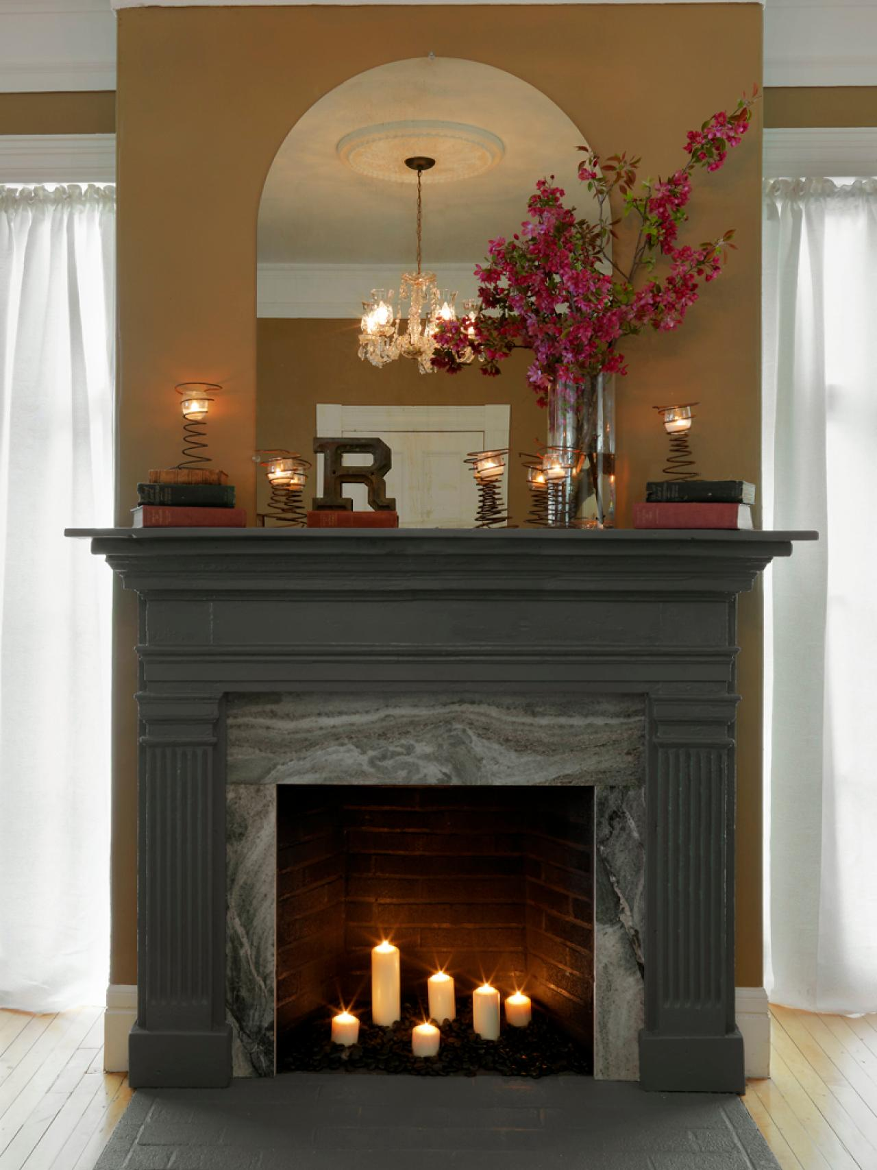 How To Cover A Fireplace Surround And Make Mantel How tos DIY