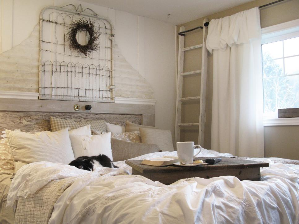 . Salvage Items Turned Into Bedroom Headboards   DIY